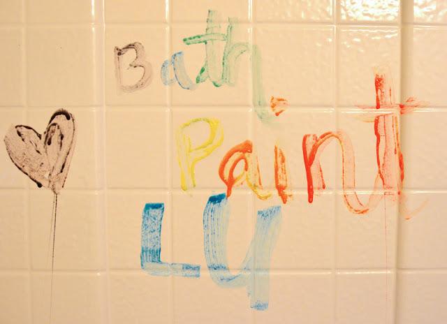 Bath Paint Soap and cornstarch rainy day activity