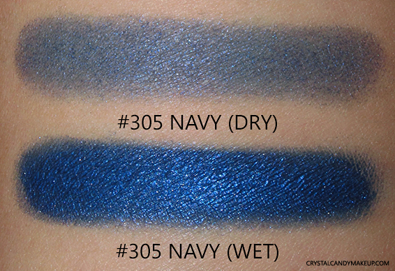PUPA Milano Vamp! Wet & Dry Eyeshadows Review 305 Navy Swatch
