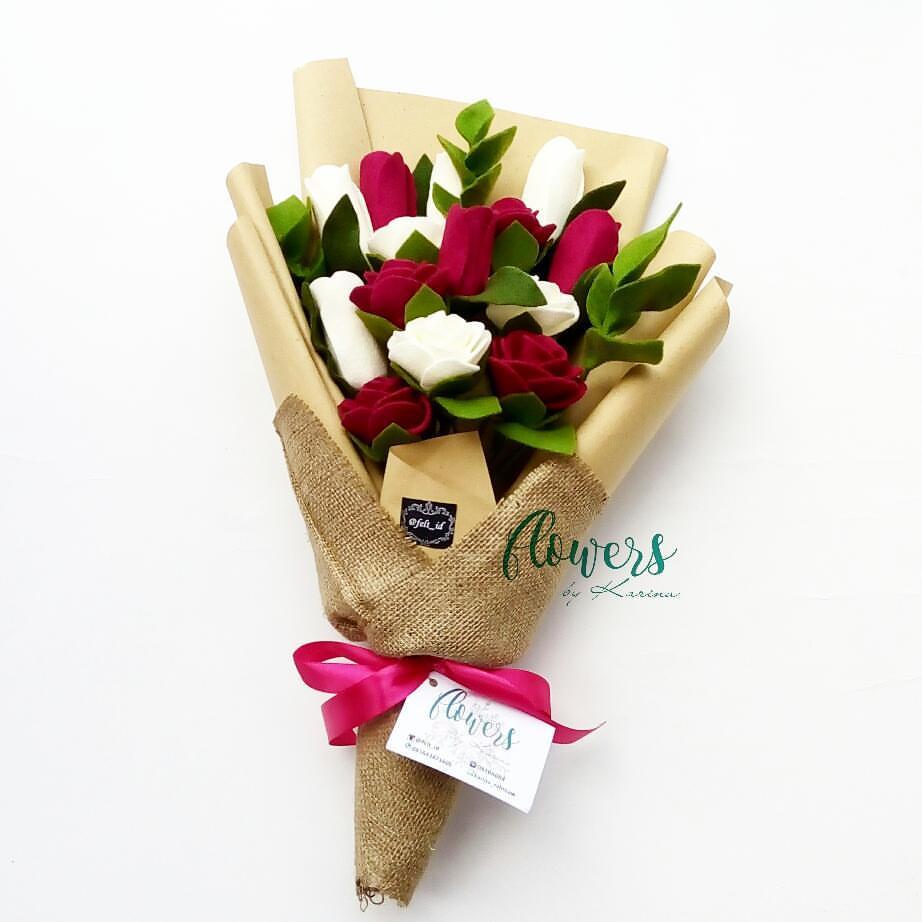 Cara Membuat Buket Bunga dari Kain Flanel Untuk Wisuda dan