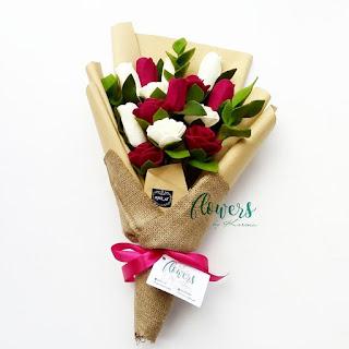 Cara Membuat Buket Bunga dari Kain Flanel Untuk Wisuda dan Pengantin