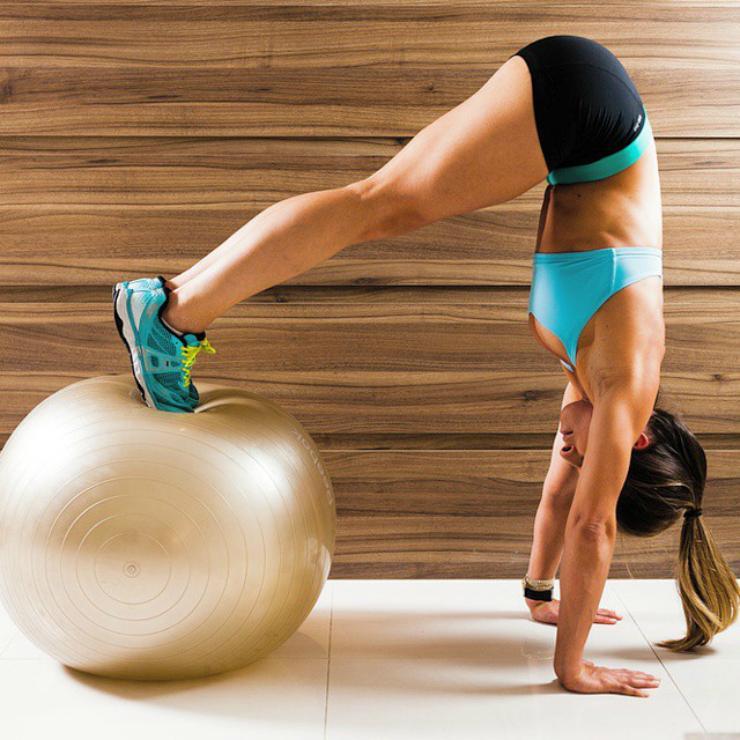 tumblr inspiration - balance ball exercise