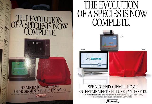 Nintendo recupera antigua publicidad para su nueva plataforma Switch 1