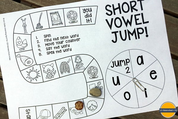 Print off this free short vowel board game and gain confidence with CVC words!