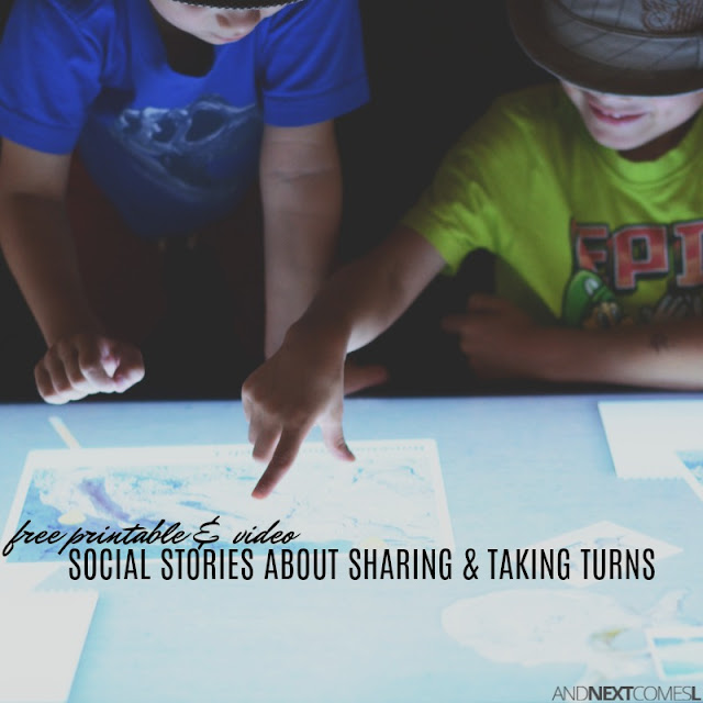 Free social stories about sharing and taking turns