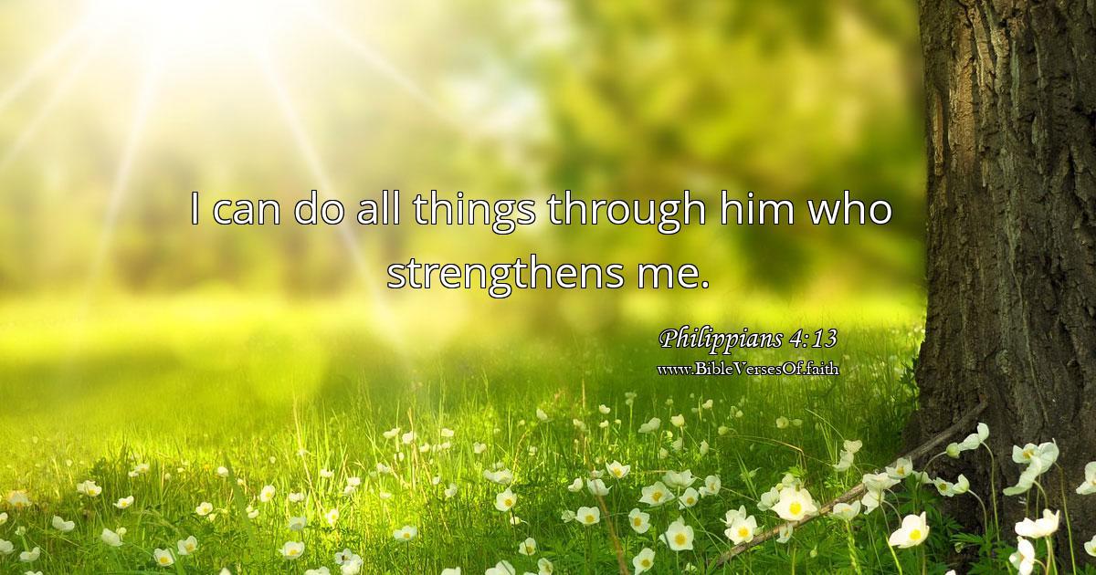Philippians 4:13 (NIV)