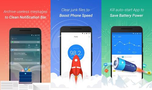 تطبيق Purify لحفظ الطاقة وزيادة السرعة والحفاظ على البطارية