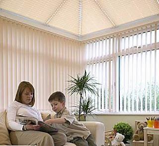 conservatory blinds - vertical blinds