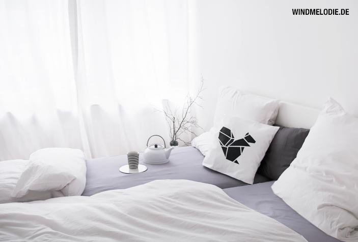 Schlafzimmer weiß skandinavisch minimalistisch