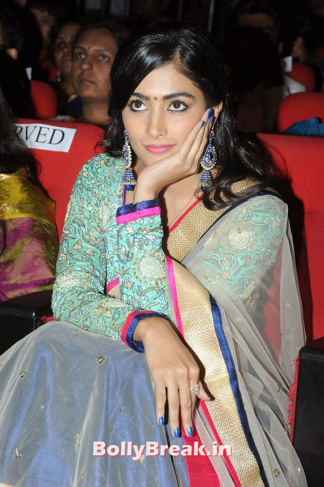 Actress Pooja Hegde Latest Stills, hot Pics of Pooja Hegde from Mukunda Movie Audi Launch