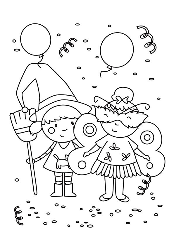 Actividades Para Educación Infantil 7 Dibujos Para Colorear Carnaval