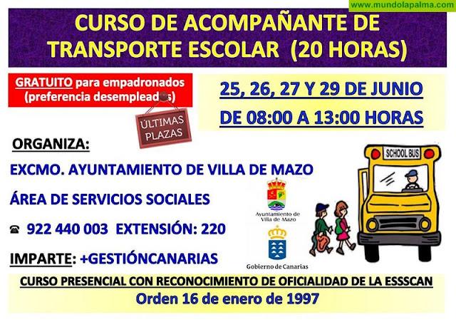 Cursos presenciales con reconocimiento de oficialidad de la ESSSCAN en Villa de Mazo