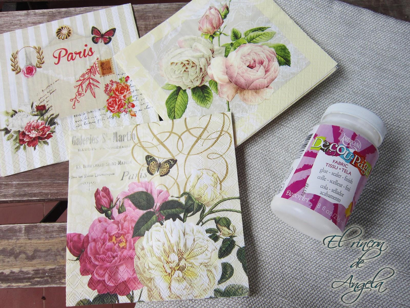 Regalo para el d a de la madre cojines decorados con decoupage handbox craft lovers - Cojines con tu foto ...