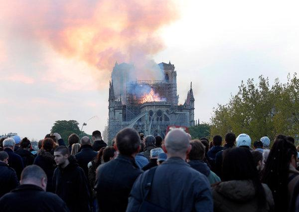 Notre Dame Cathredal Paris burning