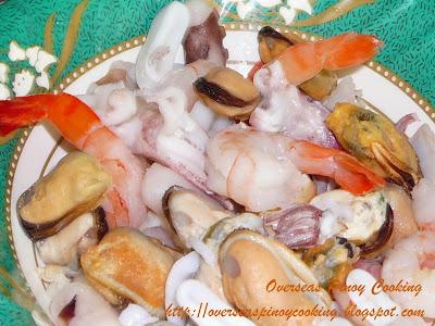 Seafood  Sopas - Ingredients