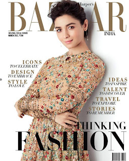 Alia Bhatt gorgeous on Cover Page of Harpers Bazaar India March 2017