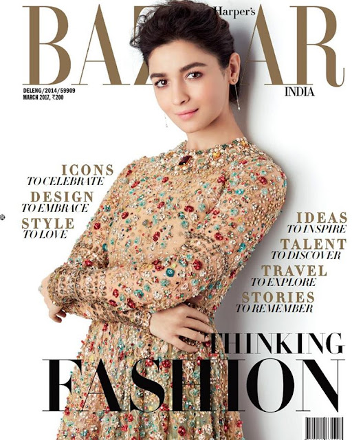 Alia Bhatt On The Cover Of Harper's Bazaar India Magazine March 2017 Issue