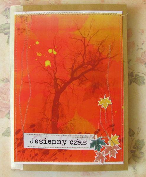 #012 Album na bazie z szarych kopert Jesienny Czas