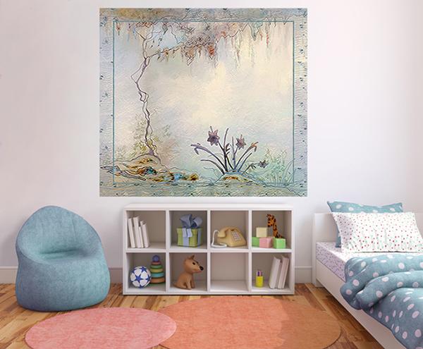 papier peint pour chambre de jeune fille. Black Bedroom Furniture Sets. Home Design Ideas