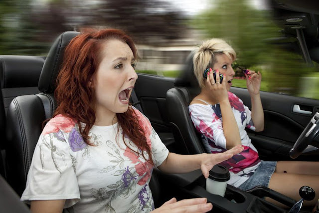 Don't talk on phone when driving the car, tips how to drive safe