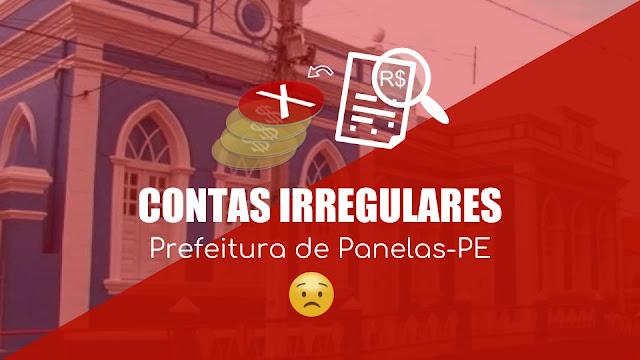 prédio da Prefeitura de Panelas e tema da matéria CONTAS IRREGULARES