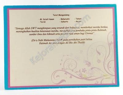 contoh undangan full color  majalengka