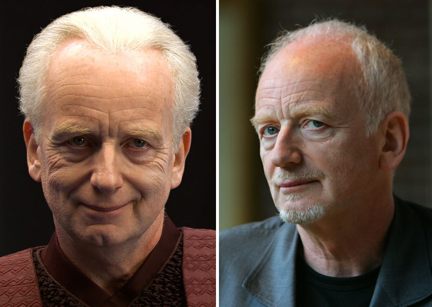 Ian McDiarmid As Palpatine,2005 And 2015