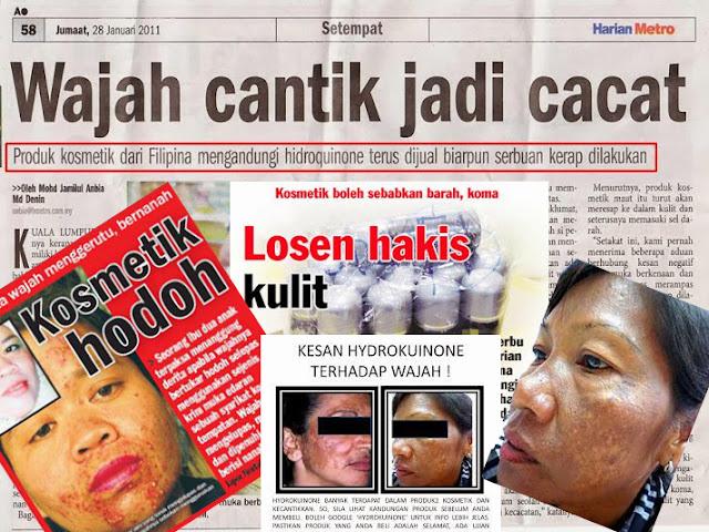 Atasi masalah kulit kerana produk kosmetik