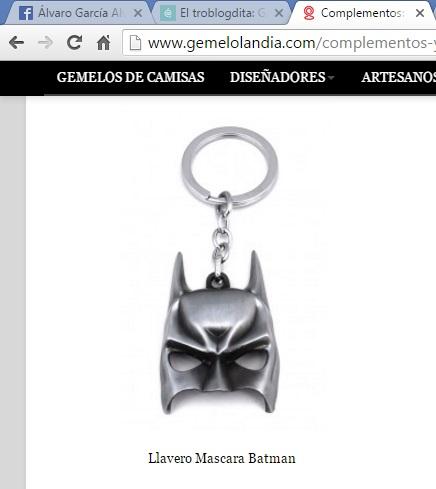 Llavero de Batman - Gemelolandia - Gemelos - Llaveros - Llaveros Gemelolandia - Batman - Cine Fantástico - el fancine - ÁlvaroGP - el troblogdita