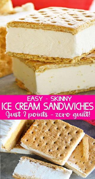 Easy Skinny Ice Cream Sandwiches