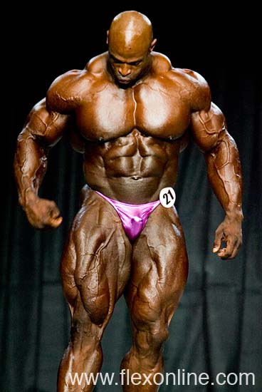 Ronnie Coleman on Natural Christmas Tree