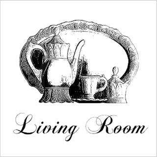"""Картинка для декупажа """"Living Room""""."""