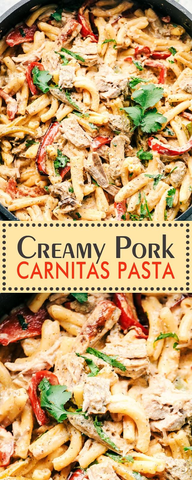 CREAMY PORK CARNITAS PASTA