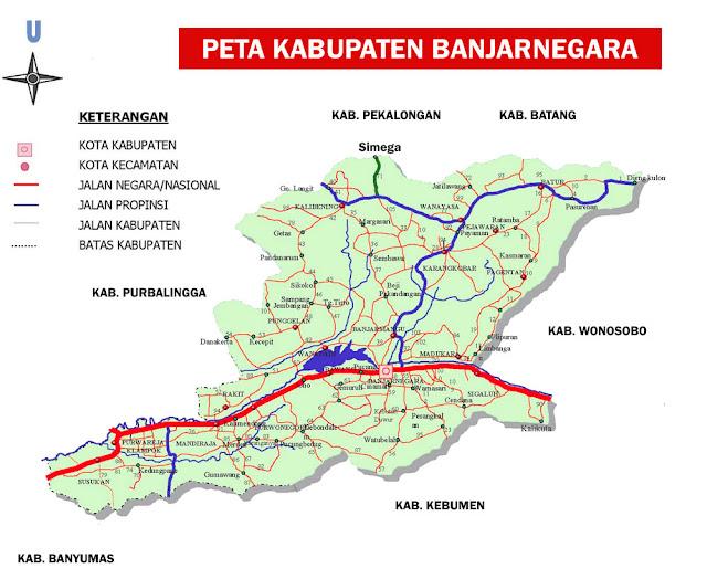 Gambar Peta Kabupaten Banjarnegara Lengkap