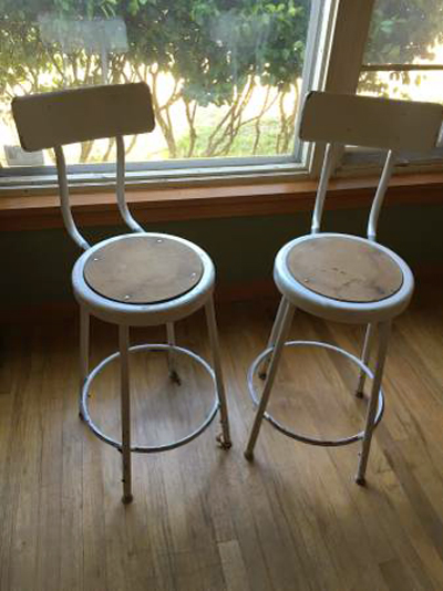 Industrial metal bar stools - Sweet 16 Craigslist Scores