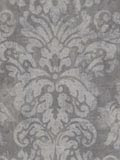 grey,   charcoal,Large Floral Scroll Wallpaper is prepasted and has 27 inches pattern repeat