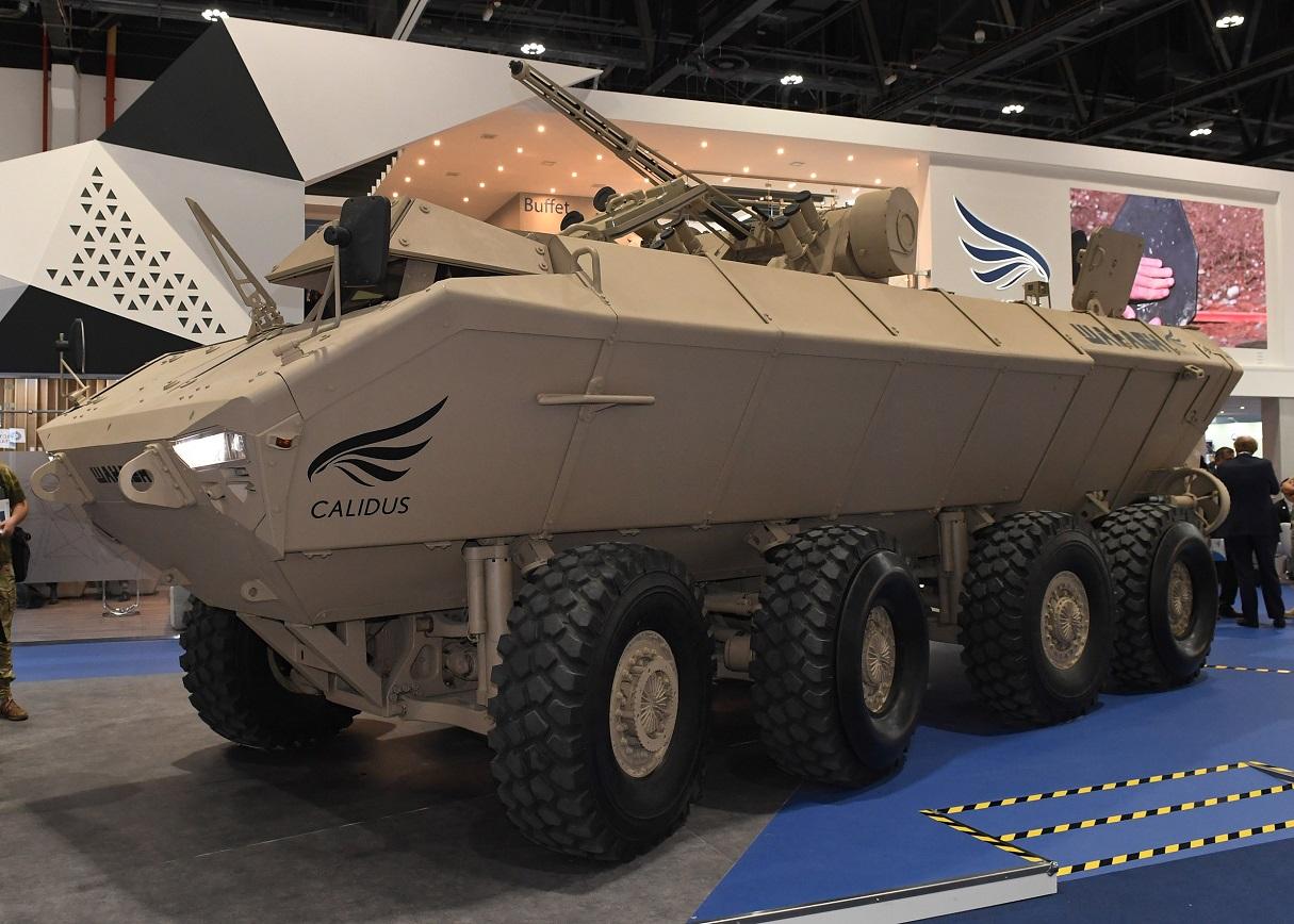 IDEX 2019: Al‑Wahash APC with Shturm combat module
