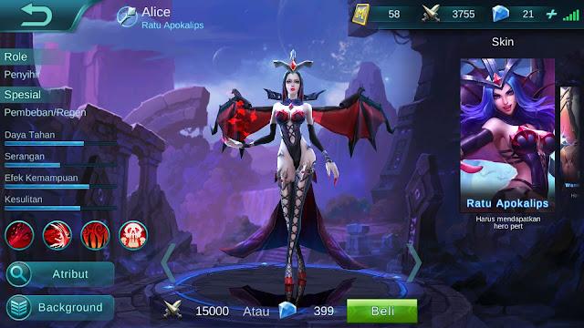 Hero Alice ( Ratu Apocalips ) Immortal Build/ Set up Gear