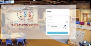 sispena.banpaudpnf.or.id Alamat Webiste SISPENA PAUD