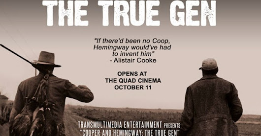 On DVD (and soon Blu-ray)--John Mulholland's COOPER & HEMINGWAY: THE TRUE GEN, a first-class, dual celebrity bio-doc