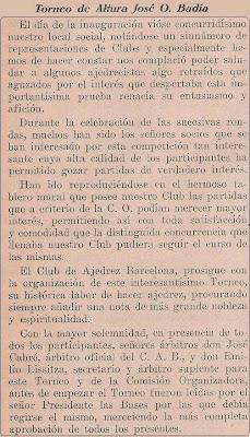 Nota preliminar sobre el Torneo de Ajedrez de Altura José O. Badía 1929
