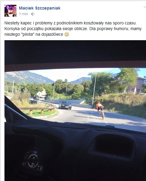 Kubica rower Korsyka 2016