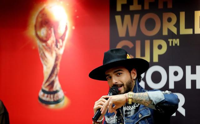 Maluma despide la gira del trofeo de la Copa del Mundo en Colombia