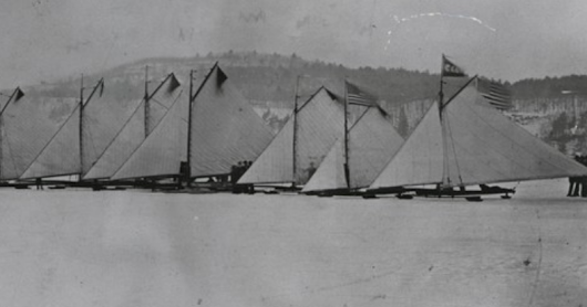 The Race of the Ice Yachts - Hurrah for the race! Hurrah!