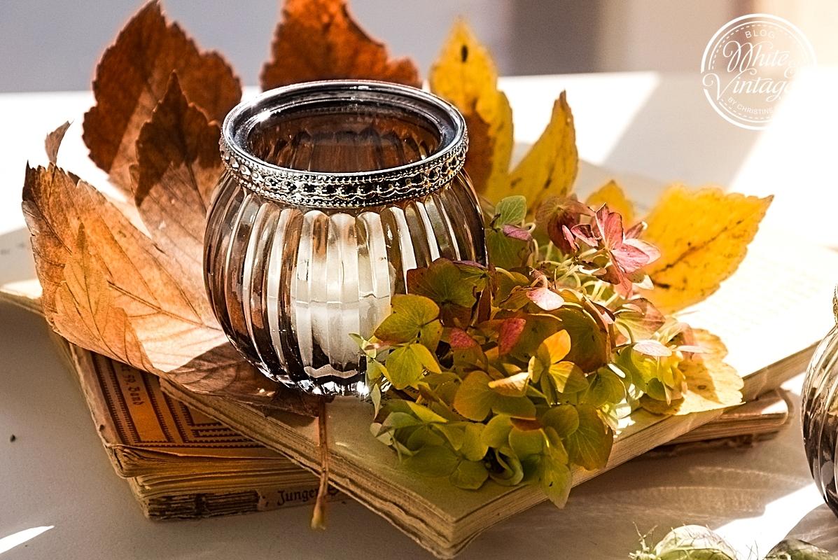 Herbstliches Windlicht.