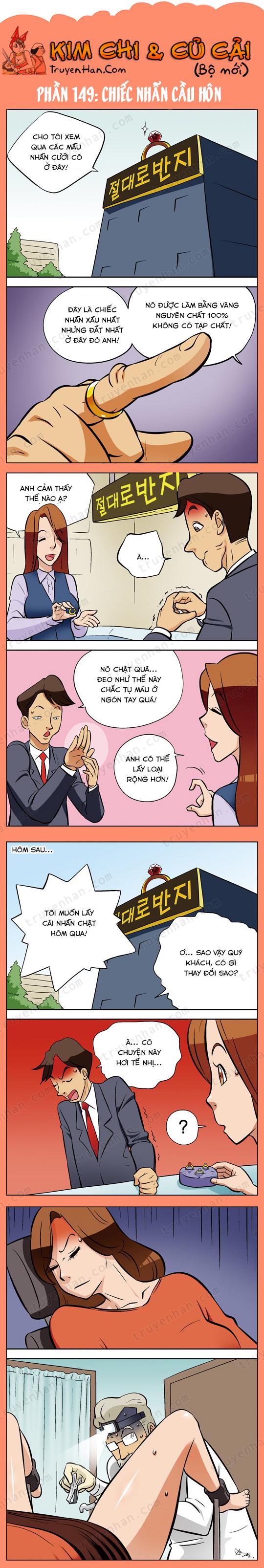 Kim Chi & Củ Cải (bộ mới) phần 149: Chiếc nhẫn cầu hôn