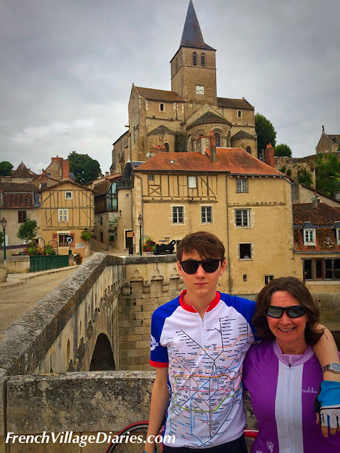 French Village Diaries family cycling in the Vienne Montmorillon