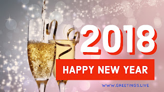 New Year celebration with drinks 2018