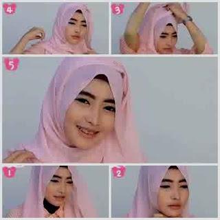 tutorial hijab pashmina sifon ke pesta