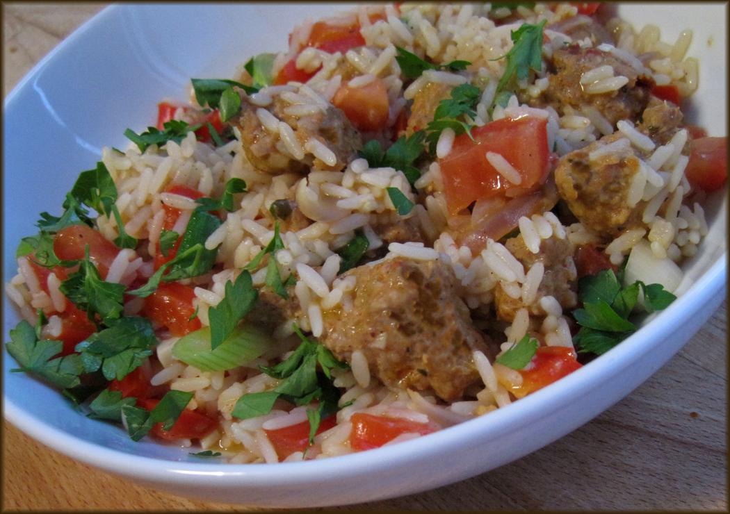 A Glug of Oil : Spicy Sausage Rice Recipe - Gordon Ramsay