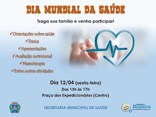 Registro-SP celebra o Dia Mundial da Saúde